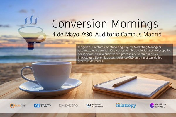 Pide tu invitación a Conversion Mornings